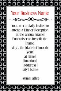 Customizable design templates for invitation announcement poster formal black tie dinner reception volunteer invitation flyer stopboris Choice Image