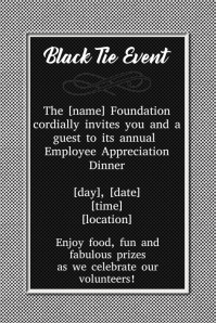 Formal Black Tie Event Flyer Invitation Dinner Reception