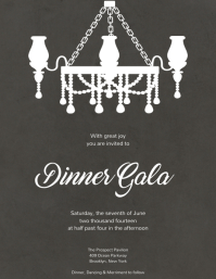 Formal Dinner Charity Gala Flyer Template