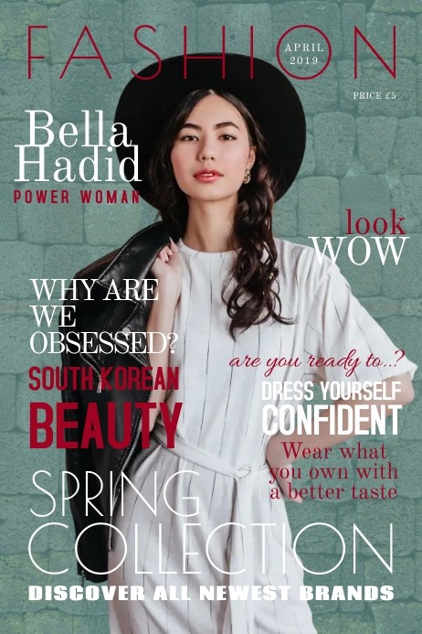 Formal Fashion Magazine Cover Template Postermywall
