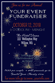 Formal Fundraiser Poster Template