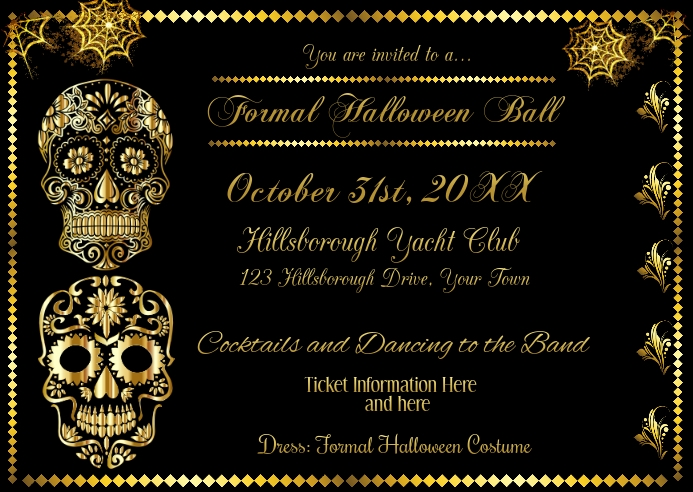 Formal Halloween Invitation