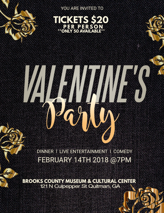 Formal Valentines Event Flyer Template