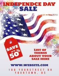 Forth Of July Day Sale Flyer