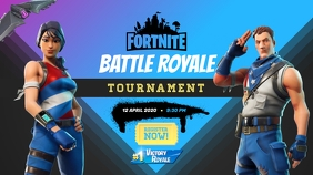 Fortnite Game Tournament Poster YouTube-miniature template