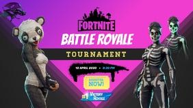 Fortnite Game Tournament Poster Miniatura di YouTube template