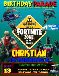 fortnite Birthday Flyer (US-Letter) template