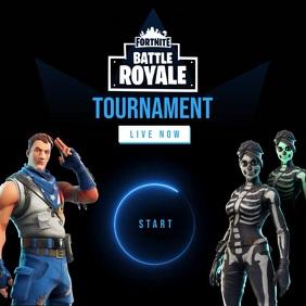 Fortnite Game Tournament Instagram Post Cover ng Album template
