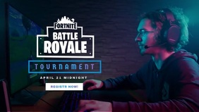 Fortnite Game Tournament poster Gambar Mini YouTube template