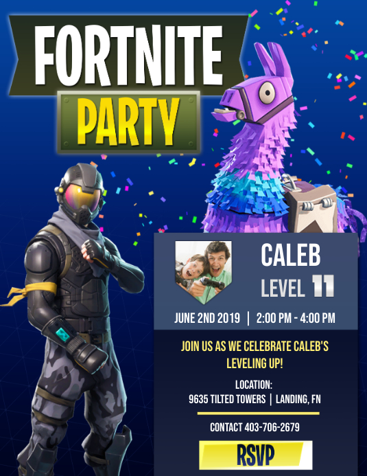 Fortnite Party Template | PosterMyWall