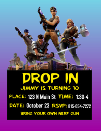 Fortnite Party Invite