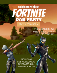 Fortnite Party Template