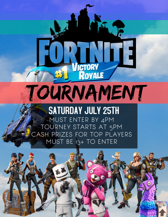 FORTNITE TOURNAMENT BATTLE ROYALE Template   PosterMyWall
