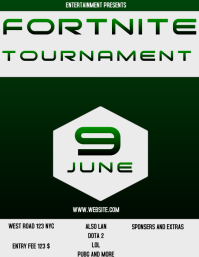 FORTNITE TOURNAMENT FLYER AD POSTER
