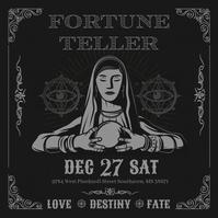 Fortune Teller Lady Illustration Instagram Te template