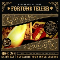 Fortune Teller Tarot Cards Instagram Video Te Square (1:1) template
