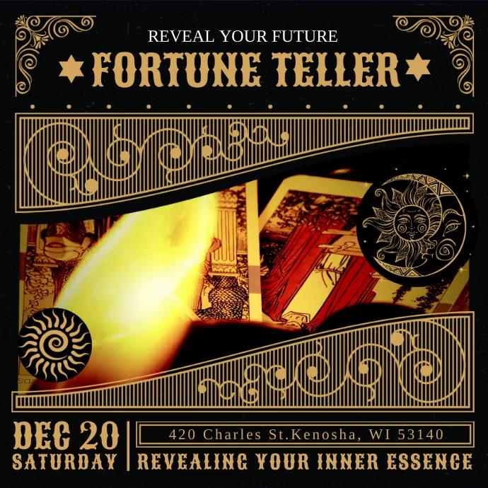 Fortune Teller Tarot Cards Instagram Video Te Quadrado (1:1) template