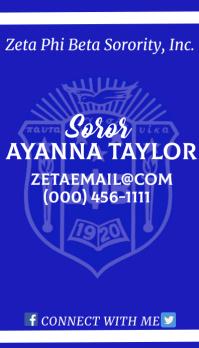 Zeta Phi Beta Sorority, Inc. business card 名片 template