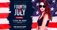fourth of July Celebration ads Facebook-Anzeige template