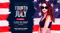 fourth of July Celebration ads Twitter Post template