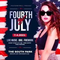 fourth of July Celebration ads Post Instagram template