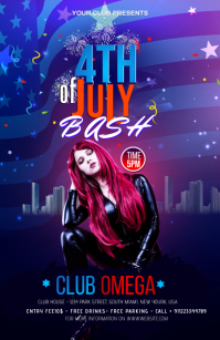 fourth of July Celebration ads Half Page Wide template