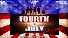 FOURTH OF JULY Digital Display (16:9) template
