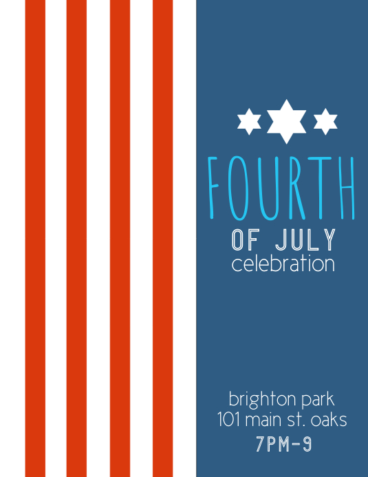 Fourth of July Pamflet (VSA Brief) template