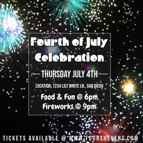 Fourth of July Fireworks Video