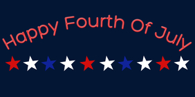 Fourth Of July Twitter-Beitrag template