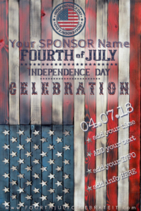 Fourth of July Independnce America USA Red Blue Stars 4th