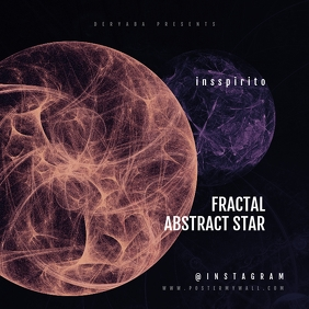 Fractal Abstract CD Cover Template