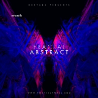 Fractal Abstract Music Album CD Cover template