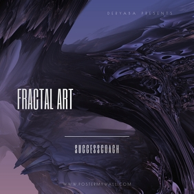 Fractal Art 3D CD Cover Template