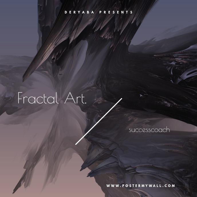Fractal Art 3D CD Cover Template