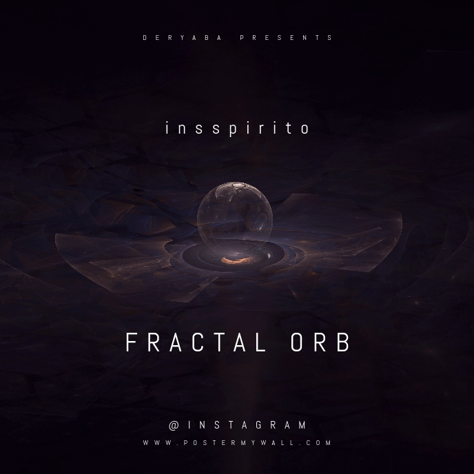 Fractal Orb Abstract CD Cover Template