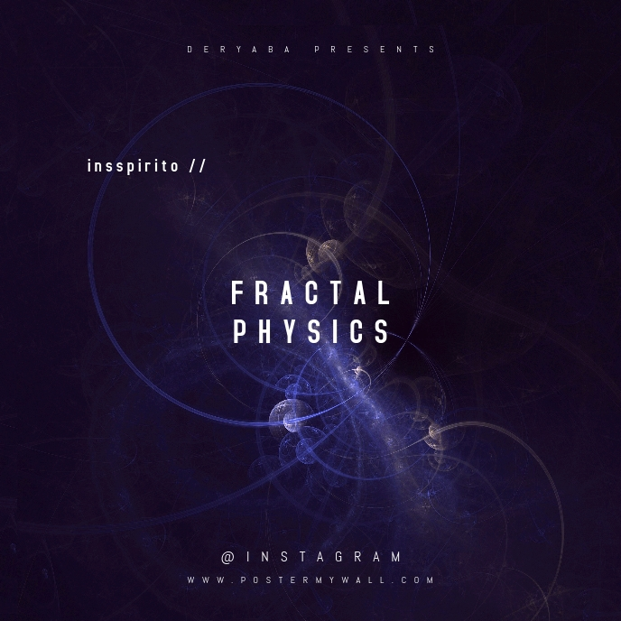 Fractal Physics Abstract CD Cover Template