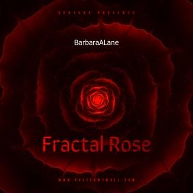 Fractal Rose CD Cover Art Template