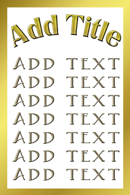 frame all gold and golden letters customizable template