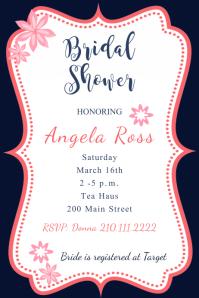 Framed Pink Bridal Shower Invite