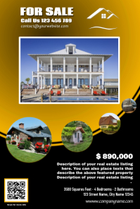Franchise Real Estate Flyer - Yellow version Poster template