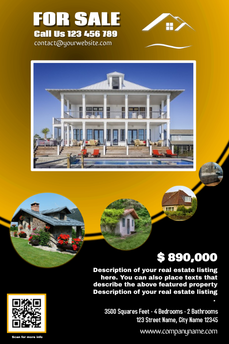 franchise real estate flyer yellow version template postermywall