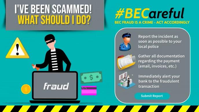 Fraud Alert Facebook-omslagvideo (16: 9) template