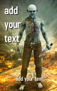 FREE!!! Zombie Horror Novel Book Cover Design Template