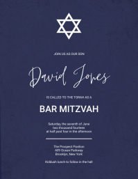 Free Bar Mitzvah Invitation template Flyer (US Letter)