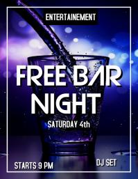 Free bar night flyer advertisement