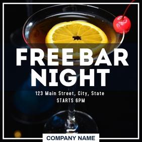 Free Bar night instagram post advertisement