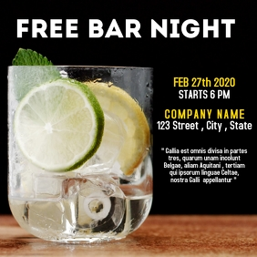 free bar night party instagram post advertise