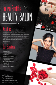 Free Beauty salon Flyer Template Плакат