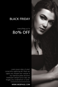 Free Black Friday Sale Flyer Template with Photo